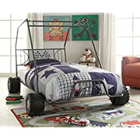 ACME Furniture 37640T 2 Count Xander Bed, Twin, Gunmetal Go Kart