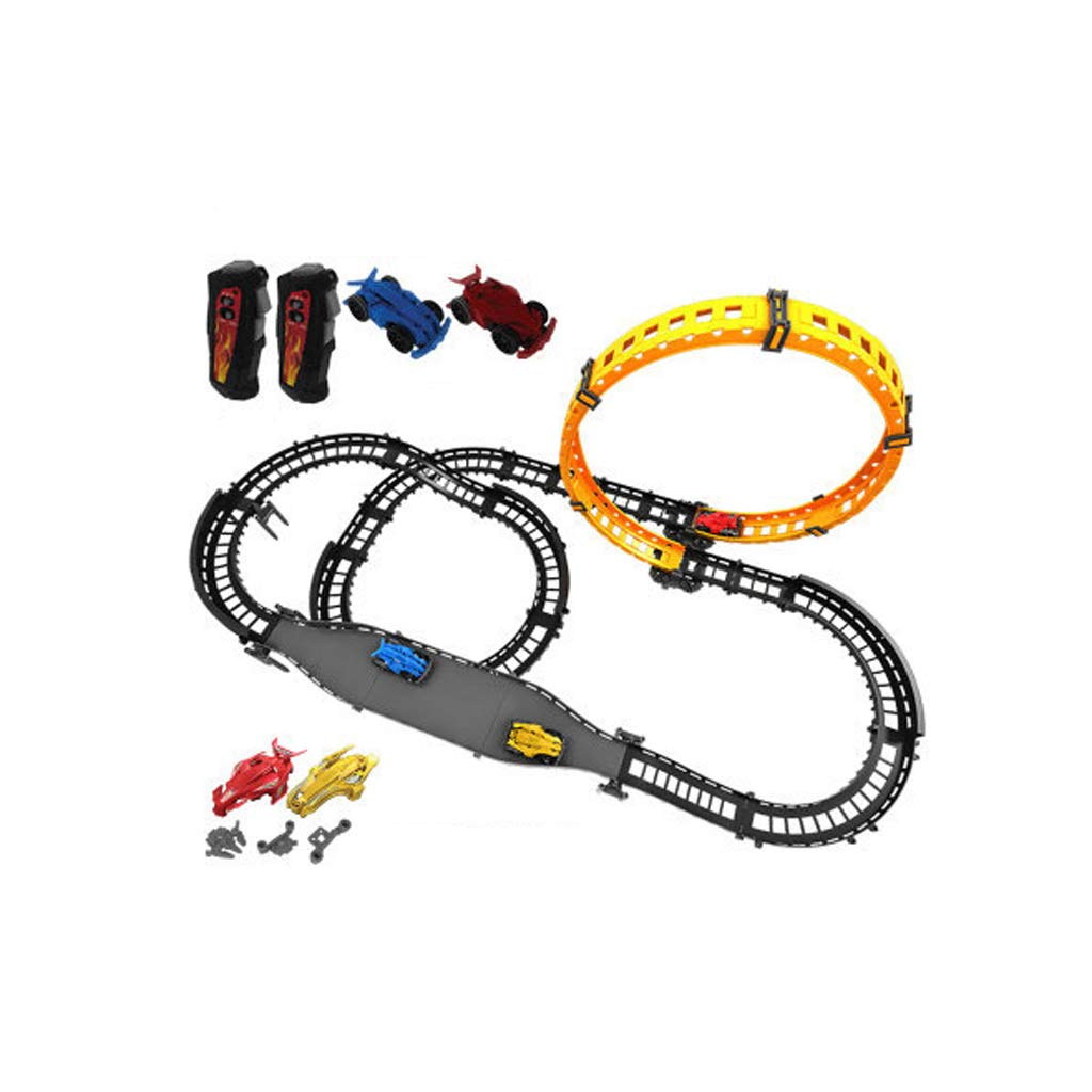 LINGLING-Track Track Remote Control Rail Car Children Racing Toy Train Electric Car Assembling Boy (Color : Upgraded Version, Size : Car2)