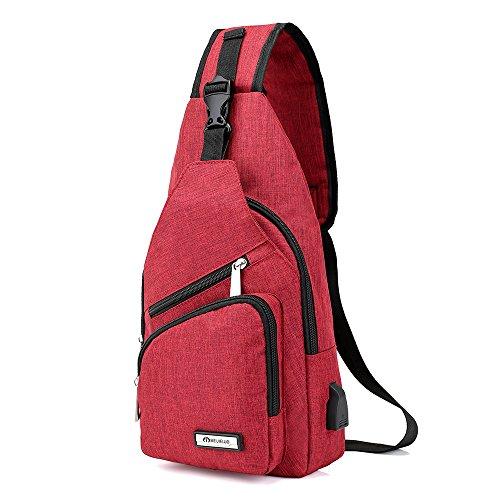 al para mujer Rojo hombro Bolso Sabarry q5wtUU