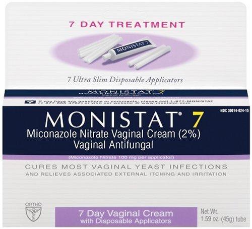 Monistat 7 Vaginal Cream antifongique avec des applicateurs jetables, 1,59 once Tube