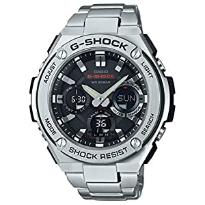 51ekyQ BjUL. SS300  - Casio Men's G SHOCK Quartz Watch with Stainless-Steel Strap, Silver, 25.85 (Model: GST-S110D-1ADR (G604)