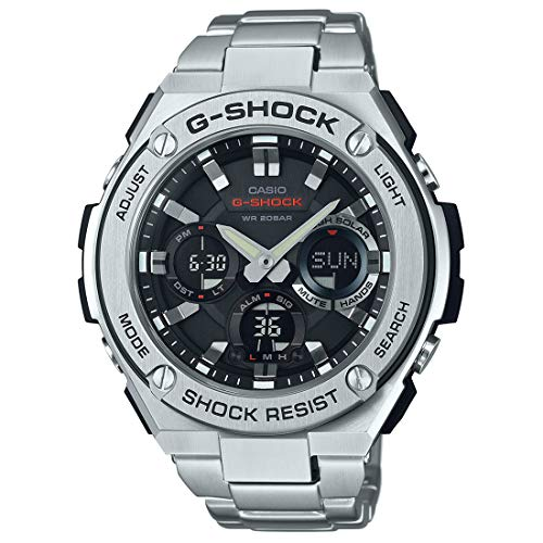 Casio Men's G SHOCK Quartz Watch with Stainless-Steel Strap, Silver, 25.85 (Model: GST-S110D-1ADR (G604)