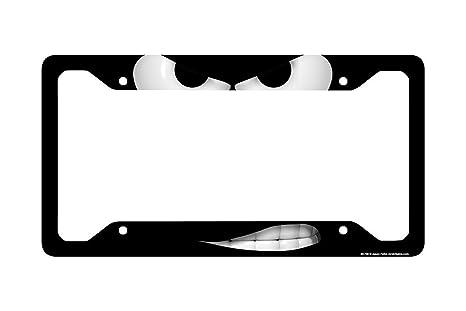 Airstrike Smirk Face License Plate Frame Angry Mad Decorative License Plate Frame-30-736 Back Off License Plate Holder Smirk Car Tag Frame