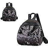 Hot Sale! Koolee Girl Shiny Sequins School Bags Fashion Cute Backpack Women PU Travel Rucksack (Black) For Sale