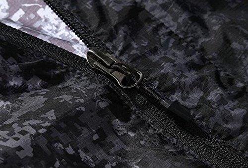 Resistente Giacca All'acqua Maschio Sottili Mimetico Abbigliamento Maschile Pelle Grey A Traspirante Protezione Vento Monostrato Solare nwvzZ