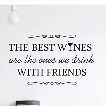 wall sticker the best wines wall decal drinks quote home decor