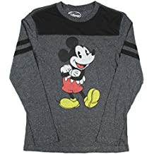 Mickey Mouse Retro Vitange Licensed Charcoal Speckle Long Sleeve T Shirt