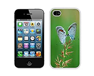 Beautiful Iphone 4s White Case Cute Butterfly Silicone Iphone 4 Protective Cover