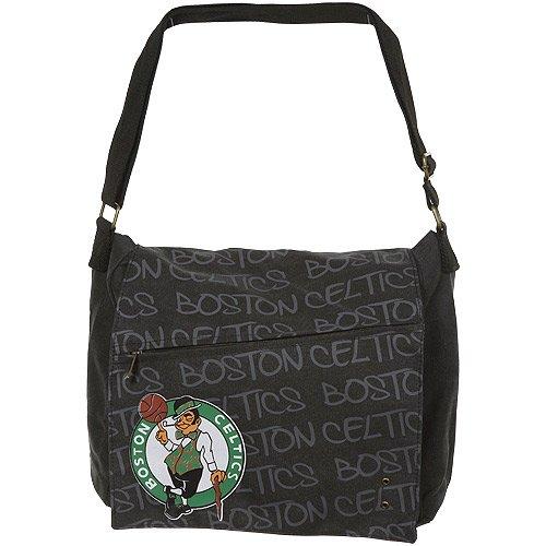 NBA Boston Celtics Robin Ruth Ladies Jump Shot Large Messenger Bag - Charcoal (Boston Bag Messenger)