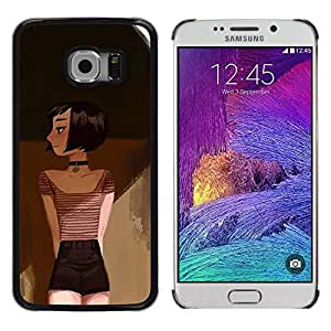 Exotic-Star ( Drawing Deep Art Painting Emo Hipster ) Fundas Cover Cubre Hard Case Cover para Samsung Galaxy S6 EDGE / SM-G925 / SM-G925A / SM-G925T / SM-G925F / SM-G925I