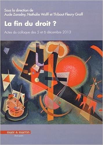 Téléchargement La fin du droit ? : Actes du colloque des 5 et 6 décembre 2013 pdf ebook