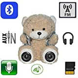 "11.8"" Multifunction Monkey Plush Toy Bluetooth Wireless Micro Sd Memory Card Stereo Speaker w/ Fm Radio Microphone Rechargeable Battery (Gift Retail Package) Turquoise"