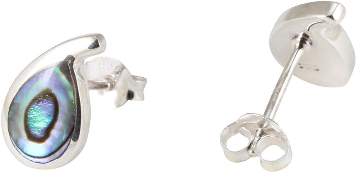 6225439bb Abalone Paua Shell & 925 Sterling Silver Studs Earrings: Amazon.co ...