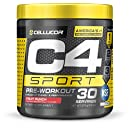 Cellucor C4 Sport Concentrated Energy Drink and Pre Workout Powder, Fruit Punch, 30 Servings - NSF Certified for Sport