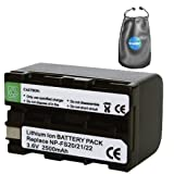 Digital Replacement Camera and Camcorder Battery for Sony NPFS21, Handycam DCR-PC1 - Includes Lens Pouch