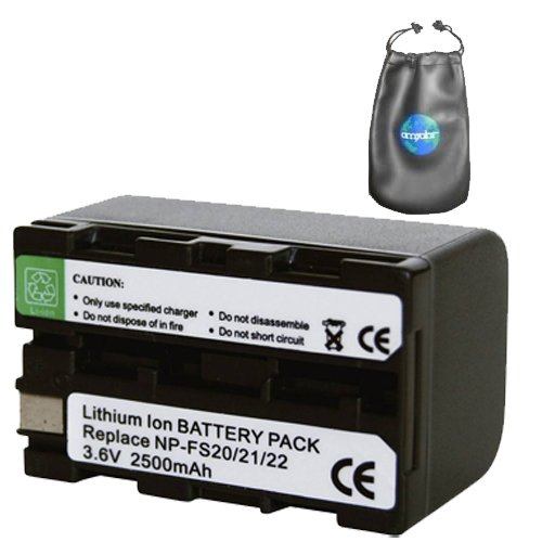 Digital Replacement Camera and Camcorder Battery for Sony NPFS21, Handycam DCR-PC1 - Includes Lens Pouch by Amsahr
