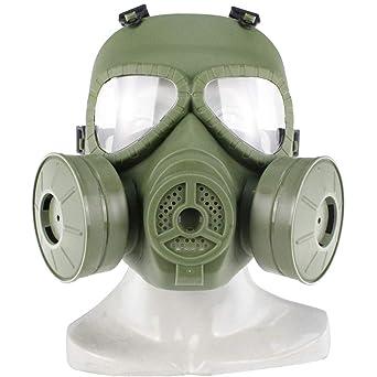 UKCOCO Máscara de gas táctica Máscara protectora de Airsoft Protección facial completa Máscara de gas tóxico