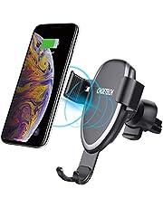 Cargador Inalámbrico Coche Carga Rápida, Qi Cargador Rápido Wireless Car Charger Soporte Móvil,10W para Samsung S9/S9+/S8/S8+,7.5W para iPhone XS/XS Max/XR/X/8/8 Plus, 5W Otros Dispositivos QI-enabled