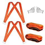 2020 Moving Straps(Sangles mobiles) 2 person Furniture Teamstrap Lifting System with Shoulder Harnesses,Feel Lighter Over 50% ,Upto 800LBS Appliances ,Flexible Sections Lifting Straps With Bonus Slip-Proof Gloves By Stwie