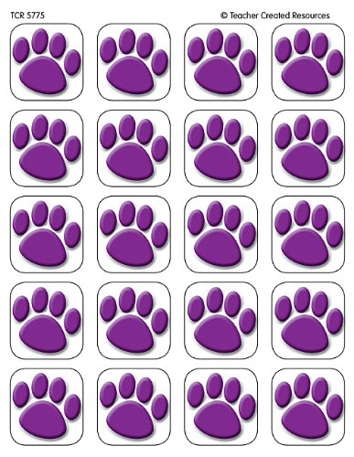 Teacher Created Resources Purple Paw Prints Stickers (5775)