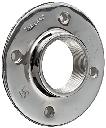 Chrome plated brass pipe fitting floor flange 1 2 npt for 1 inch square floor flange