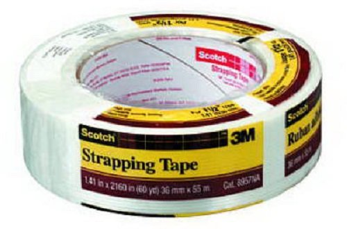 3M Scotch 8957-1.5 1.4'' x 60 Yard Reinforced Strapping Tape - Quantity 36 by Scotch