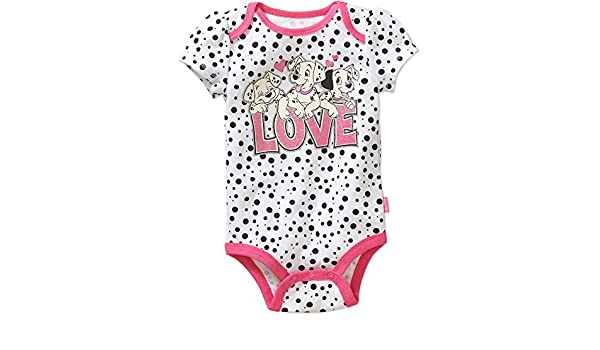 d8caddd68 Amazon.com: Disney 101 Dalmatians Love Baby Girls Bodysuit Dress Up Outfit  White: Clothing