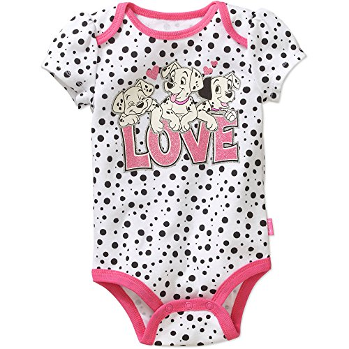 Disney 101 Dalmatians LOVE Baby Girls Bodysuit Dress Up Outfit (0-3 Months) ()