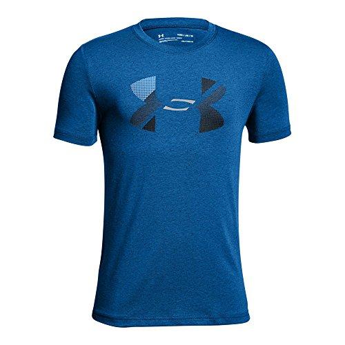 Under Armour Boys' Big Logo T-Shirt, Royal (400)/Black, Youth Medium ()