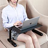 AOOU Cool Desk Laptop stand For Bed and Sofa, Cozy Desk Portable Adjustable Laptop Table Stand Up/Sitting With 2 CPU Cooling Fans And Mouse Pad