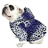 English Bulldog Dog Sweatshirts – Sizes BEEFY and BIGGER THAN BEEFY with More than 20 Fleece Patterns to Choose From! (BIGGER THAN BEEFY, Purple Leopard) Review