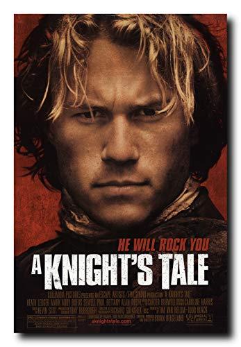 A Knight's Tale Movie Poster 24x36 Inch Wall Art Portrait Print - Heath Ledger