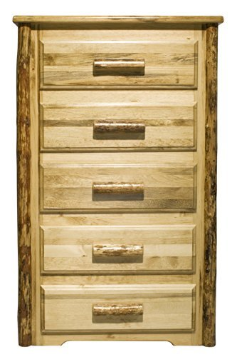 Montana Wood Cabinet - Montana Woodworks MWGC5D Glacier Country Collection 5-Drawer Chest of Drawers