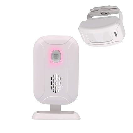 Mengshen Inalámbrico Sensor de Movimiento infrarrojo Alarma Timbre de Alarma de ladrón para la Tienda de