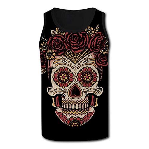 Horror Skull Men's Tank Tops 3D Printed Sleeveless T Shirts Workout Fitness Tank Top for Men