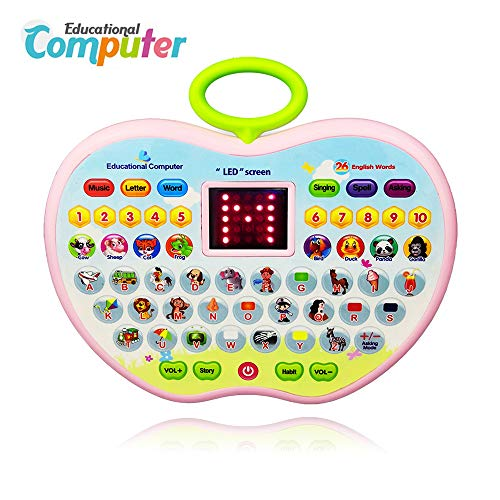 Educational Toys for 2 Year Olds Girl, Toddler Learning Toy for 1-3 Year Old Boys Girl Baby Educational Computer Toy for 6-12 Months Tablet Toy for 9-18 Months Baby Kids Birthday Gift