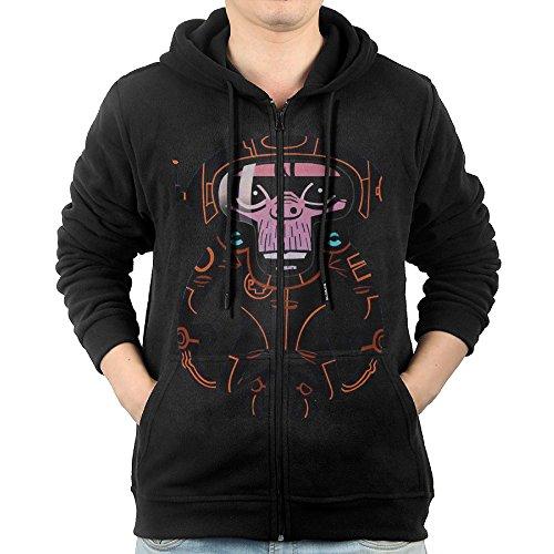 Gorillaz Laika Come Home Mens Zip Up Pocket Fashion Hooded Sweatshirt