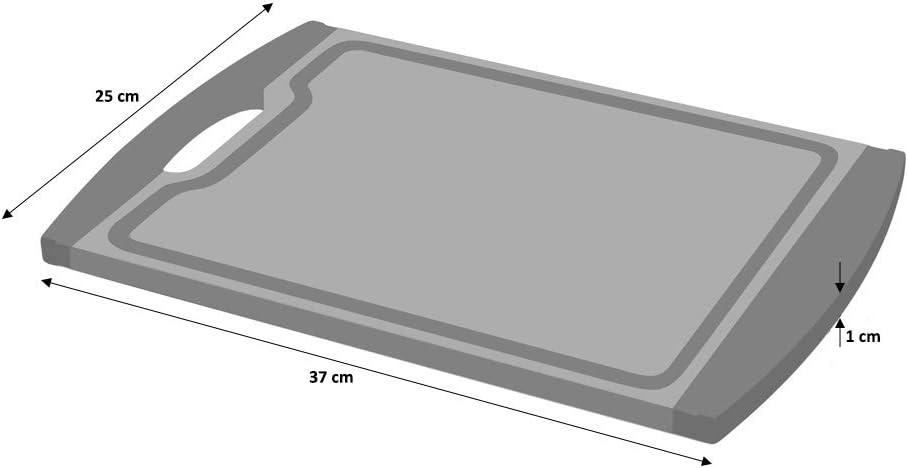 rutschfest schwarz ProCook Schneidebrett 29 cm x 20 cm