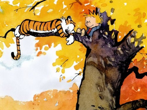 DH2976 Calvin And Hobbes On The Tree 32x24 POSTER Reprint