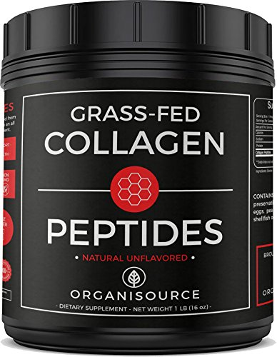 Pure Collagen Peptides Powder by Organisource (16 Ounces) Unflavored | Grass-Fed, Pasture-Raised Hydrolyzed Protein Supplement | Paleo and Keto Friendly | Gluten-Free, Non-GMO