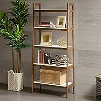 Parker Bookcase Pecan/Cream White See below
