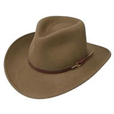 Amazon.com  Stetson Bozeman Light Brown Crushable Wool Felt Hat ... 60ebfefba80