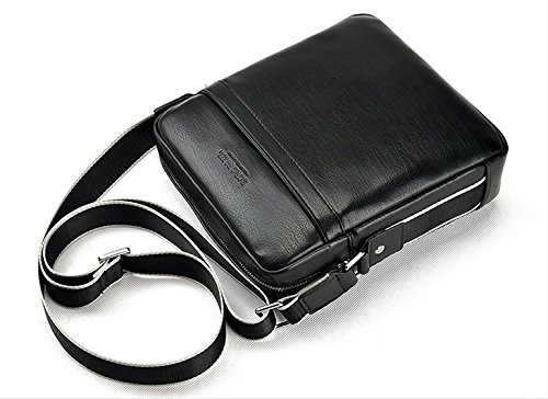 bandolera de caballeros cuero hombre Negro tipo para hombre bandolera casual bolso piel bolso de de de bolso pequeña messenger bag hombre mensajero AIAIMEI bolso hombro wACtq7FW