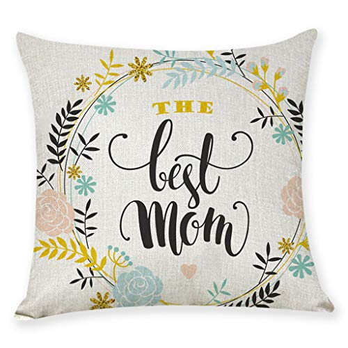 AOJIAN Home Decor Cushion Cover, Throw Pillow Covers Protectors Happy Mother's Day Bolster Case Pillowslip