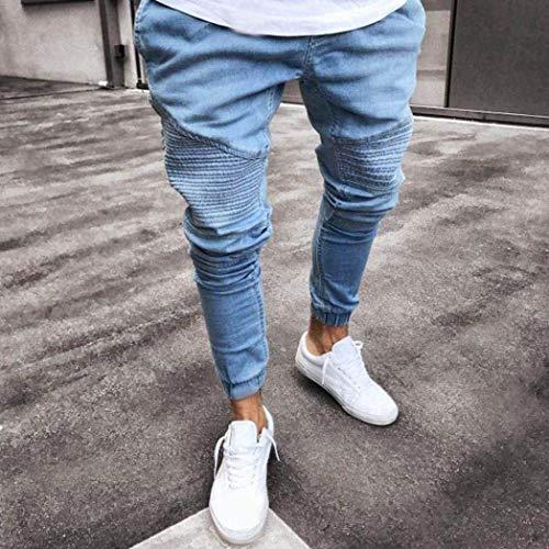 De Exterior Los Diseño Pantalones Jeans Summer Mezclilla Skinny De Mezclilla Stripe Pantalones Recto Pantalones Corte Casual Fit Pantalones Slim De Blau De De Mezclilla De Pantalones Hombres qa4wrBaX