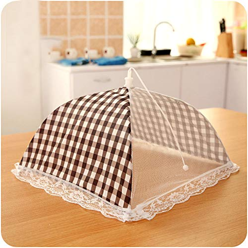 m·kvfa Kitchen Food Umbrella Cover Picnic Barbecue Party Fly Mosquito Mesh Net Tent Reusable for Indoor Ourdoor Picnic Barbecue Party Home Kitchen ()