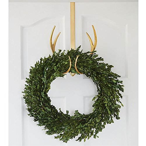 Mud Pie Antler Wreath Holder Over the Door Hanger Gold by Mud Pie