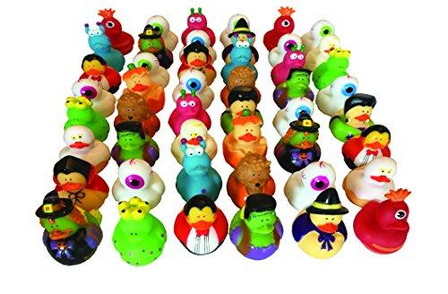 Halloween Rubber Duckies - Bulk Variety Pack Bundle of 48 Rubber (Rubber Duck Bulk)