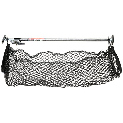 (Keeper 05060 Ratcheting Cargo Bar with Storage Net)