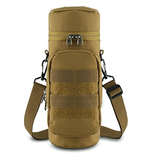 Gonex Tactical Molle Water Bottle Pouch H2O Hydration Carrier (Tan)